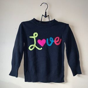 Girls Colourful Knit Sweater